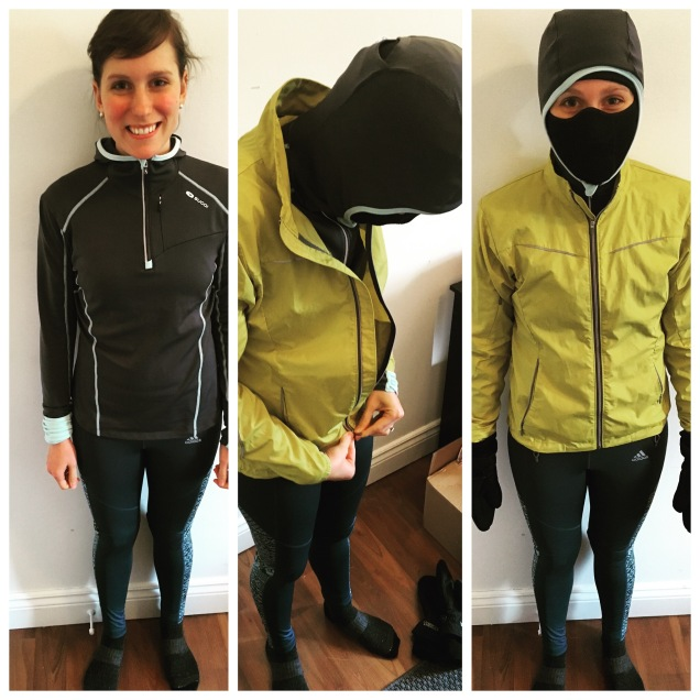 getting dressed for winter running